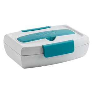 Fuel Food to Go Lunch Box Tropical Blue - Best Food Storage Container: With a removable inbuilt cutlery case