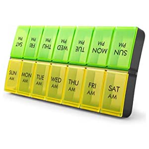Fullive Large Weekly Pill Organizer - Best Pill Dispensers for Seniors: Large enough to hold your large pills