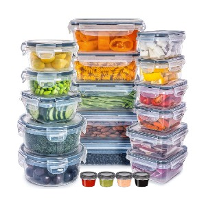 Fullstar Food Storage Containers with Lids  - Best Storage Containers for Kitchen: You'll get 20 packs!