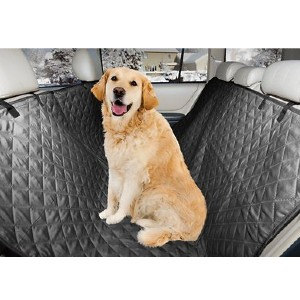 FurHaven Quilted Hammock Car Seat Cover - Best Dog Car Back Seat Covers: Seat Cover with Opening for Seatbelt Design