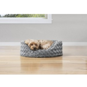 FurHaven Ultra Plush Oval Bolster Cat & Dog Bed w/Removable Cover - Best Dog Beds for Small Dogs: Oval-Shaped Bed
