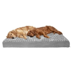 FurHaven NAP Deluxe Memory Foam Pillow Dog Bed w/Removable Cover - Best Dog Beds for Older Dogs: Silky-Soft Faux Fur Bed