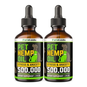 FurroLandia (2 Pack) Hemp Oil for Dogs and Cats - Best CBD Oil for Dogs on Amazon: Rich in Nutrients
