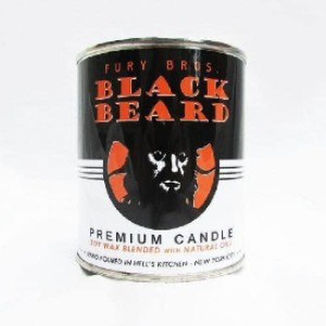 Fury Bros Black Beard Man Candle with Scents of Gun Smoke and Holster Leather  - Best Scented Candles for Men: Men's Fragrance Inspired Scented Candle