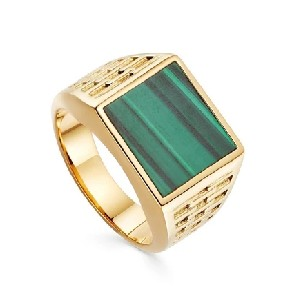 Missoma Fused Woven Gemstone Square Signet Ring - Best Jewelry for One Shoulder Dress: Detractingattention away