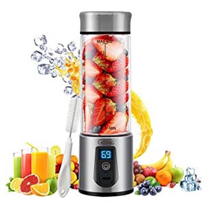 G-TING Personal Smoothies Blender Cordless - Best Portable Blender: Sophisticated with display screen