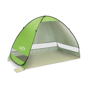 G4Free Automatic Sun Shelter - Best Beach Tents for Shade: Sturdy Tent with 4 Wind Ropes and 4 Sandbags