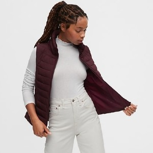 GAP Upcycled Lightweight Puffer Vest - Best Down Vests for Women: High-Performance Insulation Vest