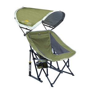 GCI Outdoor Pod Rocker Collapsible Rocking Chair - Best Folding Chair with Canopy: Rock you all day