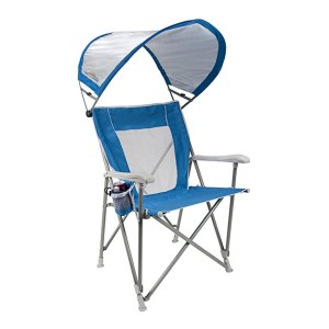 GCI Outdoor Waterside SunShade Folding Captain's Beach - Best Folding Chair with Canopy: Stands steady