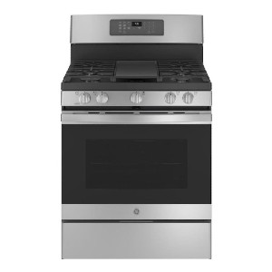 GE 30-in Air Fry Convection Oven Gas Range - Best Gas Ranges for Baking: All-in-one unit