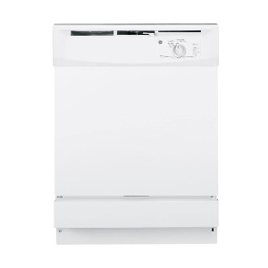 GE GSD2100VWW Built-In 24-Inch Dishwasher - Best Dishwasher for Wine Glasses: Quickly washing