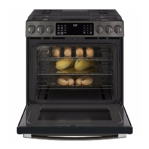 GE Profile 30 in. 5.6 cu. ft. Slide-In Gas Range - Best Gas Ranges for Home: Built-in WiFi