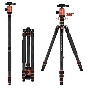 Geekoto Carbon Fiber Camera Tripod  - Best Tripods for Video Camera: Super lightweight