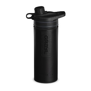 GRAYL GEOPRESS Purifier - Best Water Filtration Bottle for Travel: Improves Taste, Smell and Clarity