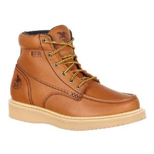 Georgia Boot MOC-TOE WEDGE WORK BOOT - Best Boots with Jeans: SPR Full-Grain Leather