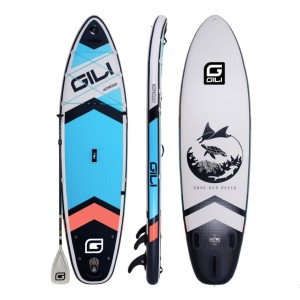 GILI 10'6 KOMODO INFLATABLE STAND UP PADDLE BOARD PACKAGE - Best Paddle Boards for Lakes: Versatile Paddle Board