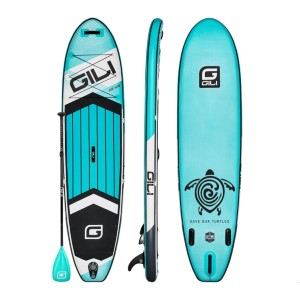 GILI 10'6 AIR INFLATABLE STAND UP PADDLE BOARD (SUP) PACKAGE - Best Paddle Boards for Dogs: Lightweight and Portable Inflatable Paddle Board