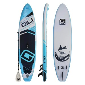 GILI 11' / 12' ADVENTURE INFLATABLE STAND UP PADDLE BOARD (SUP) PACKAGE - Best Paddle Boards for Dogs: Durable Inflatable Paddle Board