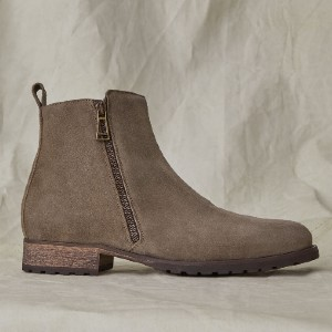 Belstaff Gloucester Boot - Best Boots for Men: Zip Fastening at Side