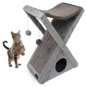 GOOPAWS Cat Foldable Tower Tree - Best Cat Tree for Small Spaces: Foldable Cat Tree