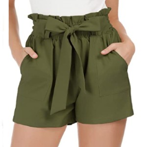 GRACE KARIN Summer Casual Shorts with Pockets - Best Shorts for Big Thighs: Elastic Back Waist Short