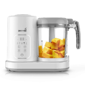 GROWNSY Baby Food Maker - Best Blender Baby Food: Automatically Steams and Blends with One Button
