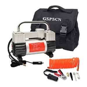 GSPSCN Silver Tire Inflator - Best Air Compressors for Tires: Steady on the ground