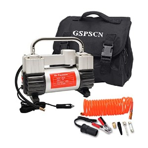 GSPSCN Silver Tire Inflator  - Best Air Compressors for Car Tires: For standard or bigger vehicles