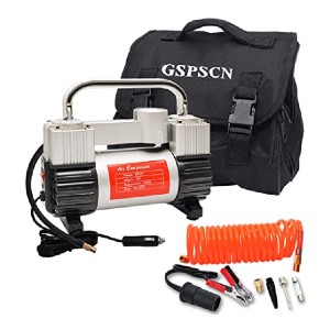 GSPSCN Silver Tire Inflator - Best Air Compressors for RV: Inflates tire in 1.5 mins