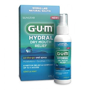 GUM HYDRAL ORAL SPRAY - Best Mouth Spray for Dry Mouth: Relieves Dry Mouth Symptoms