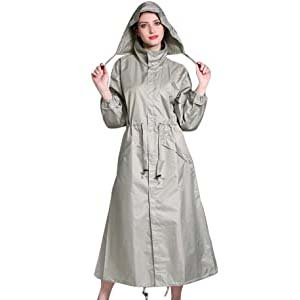 Gagacity Women Hooded Raincoat Parka - Best Raincoats Amsterdam: Get ready for compliments