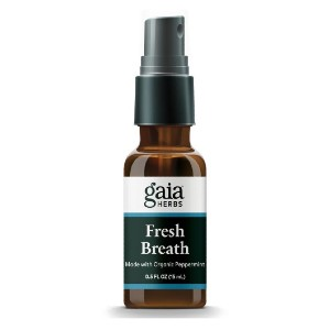 Gaia Herbs Fresh Breath Spray  - Best Mouth Spray for Bad Breath: Tested Free of Pesticides and Heavy Metals