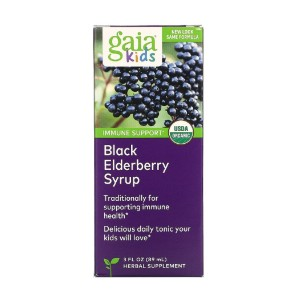 Gaia Herbs Black Elderberry Syrup - Best Elderberry Syrup for Kids: Certified Organic Ingredients