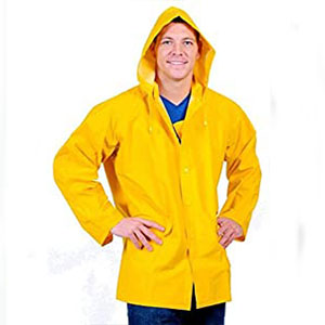 Galeton Rain Jacket with Detachable Hood - Best Raincoats for Work: The detachable hood raincoat