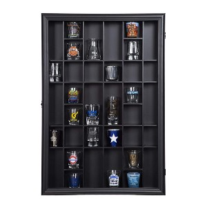 Gallery Solutions Black Shot Glass Case - Best Funko Pop Shelves: A lot of slots