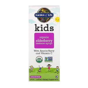 Garden of Life Kids Organic Elderberry Immune Syrup - Best Elderberry Syrup for Kids: Elderberry with Aronia Berry