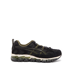 ASICS Gel-Nandi 360 - Best Sneakers Under 150: Cream, Green and Black Cushioned Rubber Sole