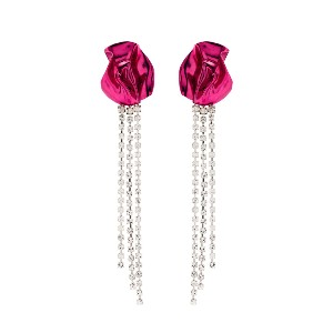 Farfetch Georgia Crystal-Embellished Drop Earrings - Best Jewelry for 30th Birthday:  Best for luxurious touch