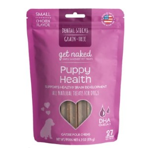Get Naked Puppy Health Grain-Free Small Dental Stick Dog Treats - Best Dog Treats for Puppies: Rich Nutrients Treat