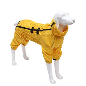 Geyecete Dog Raincoat with high Waterproof - Best Raincoats for Dogs: Elasticated Four Leg Cuffs Raincoat