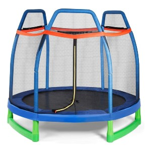 Giantex 7 Ft Kids Trampoline w/Safety Enclosure Net - Best Trampoline Backyard: Jump higher and happier