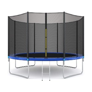 Giantex 12Ft Trampoline with Safety Enclosure Net - Best Trampoline Backyard: Excellent stability and protection