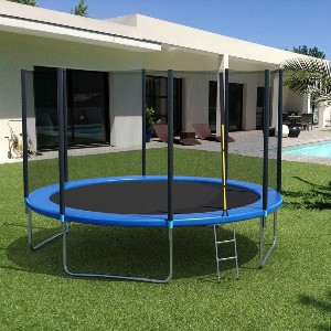 Giantex 12Ft Trampoline with Safety Enclosure Net - Best Trampoline with Net: Superior stability and protection