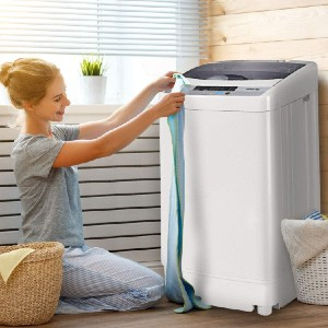 Giantex Full-Automatic Washing Machine - Best Washers for Cloth Diapers: Lifesaving child lock function