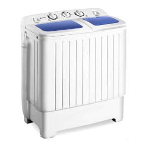 Giantex Portable Mini Compact Twin Tub Washing Machine  - Best Washers for Cloth Diapers: A week's worth of laundry