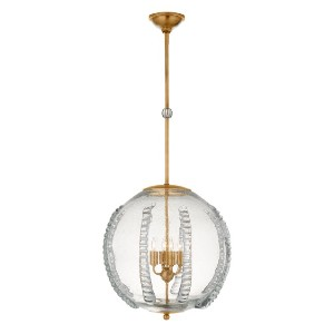 Williams Sonoma Gisela Globe Antique Brass Pendant - Best Lamp for Livingroom: Enchanting glass globe lamp