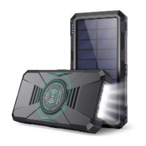 Gixvdcu Solar Portable Charger 30800mAh - Best Power Banks with Fast Charging: Wireless Charger with Flashlight
