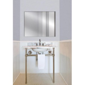 Glacier Bay Frameless Rectangular Beveled Edge Bathroom Vanity Mirror - Best Mirror for Bathroom: Tarnish Resistant Coating for High-Humidity Areas