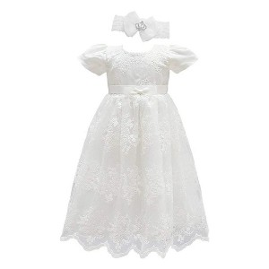Glamulice Baby Girls Flower Dress - Best Party Wear Dress for Baby Girl: You look so beautiful in white